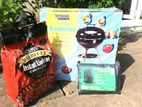 New unopened Kettle Barbecue. With new cover and full bag of charcoal.