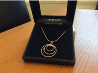 Aeon sterling silver necklace