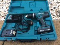 Makita hp 457 li ion drill 2 batts charger case phone calls only