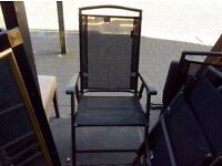 Set of 4vfolding garden chairs