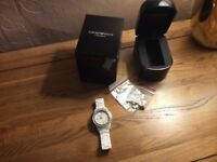 WHITE CERAMIC ARMANI WATCH