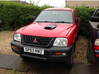 Mitsubishi l200 for parts. 2003. All parts. No engine.