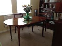Stag Meredew Table, chairs & wall unit