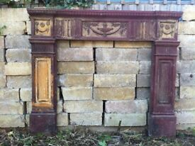 Beautiful Reclaimed Edwardian / Victorian Cast Iron Fire Surround ONO