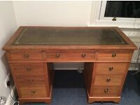 Vintage leather top desk