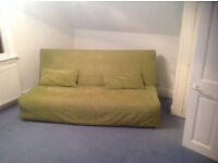 3 seater sofa bed settee, good condition, with 2 cushions