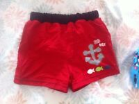 Toys'r'us baby boy swimming shorts 6-12 months BN