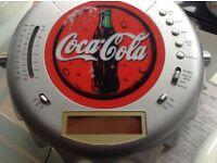 Coca Cola wall clock /radio