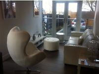 AS BRAND NEW, EX-DISPLAY 3 Seater White Leather Sofa COST £1275 WILL SELL £265..........