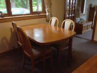 Vintage teak dining table.