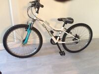 Girls bike front suspension new padded seat been serviced everything works as it should