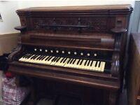 Harmonium , lovely carved fretwork, for restoration