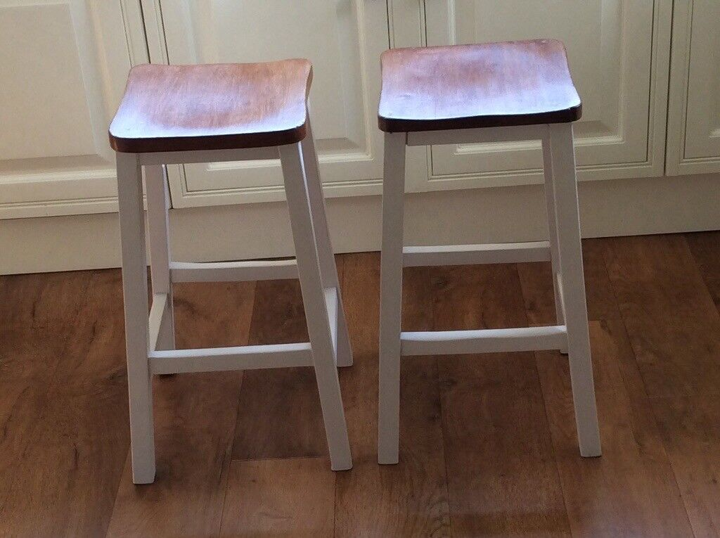 Fine 2 Kitchen Stools Freshly Painted And Varnished In Gatley Manchester Gumtree Ocoug Best Dining Table And Chair Ideas Images Ocougorg