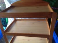 Pine baby changing table