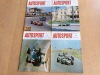 Four vintage editions of Autosport 1967