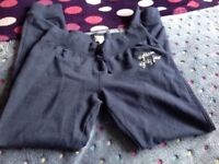 1884 Long Navy Jogging Bottoms Age 11 - 12