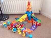 VTech Toot Toot building site and 3x vehicles singing talking