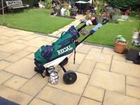 Set of golf clubs plus golf bag plus golf trolley..balls.tees ..£60ono...see photos