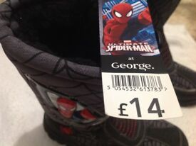 NEW Spiderman Boots - Size 2