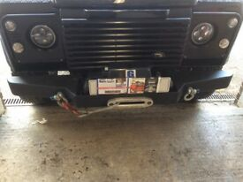 Land Rover Defender Winch and bumper