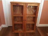 Wall cabinet - Pine, glass doors