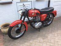 BSA C15 motorcycle 1961