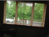2 Wooden blinds will sell separate if needed
