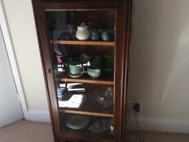 China Cabinet in Dark Oak
