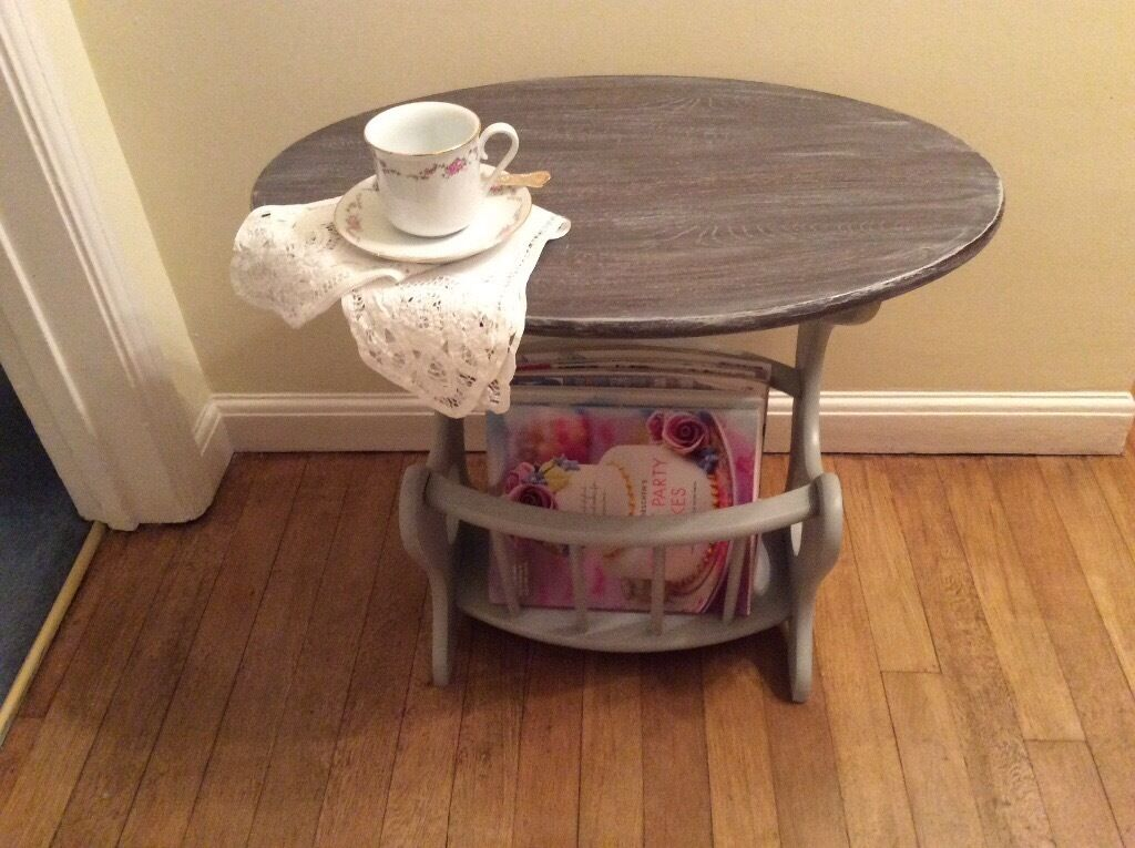 Vintage Solid Wood Coffee Table and Magazine Rack - £25 ...