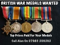 British Medals Wanted For Cash