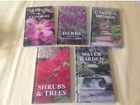 BOOKS: PLANTS and GARDENING Water Features, Trees Shrubs, Clematis Climbers, Herbs, Garden Design,