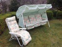GardenHammock (Swing Seat) & matching Lounger