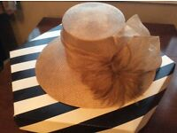 Brown ladies formal hat