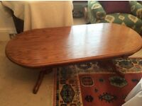Solid Oak Coffee Table. Lovely Piece
