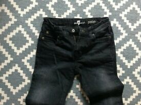 For All Mankind 7 Paxtyn black jeans - new