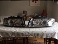 Audi A4 Avant 2002 headlights.
