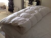King size duvet. Feather and duck down. 15 tog