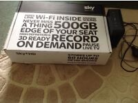 Sky wifi HD box with remote, Sky router complete