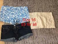 Ladies shorts size 16 (Joblot)