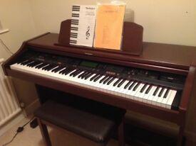 Technics SX-PR53 Digital Piano, mahogany full size 88 weighed keys, superb sound, matching stool
