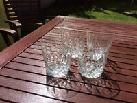 Heavy crystal tumbler glasses