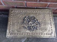 Old Brass Lined Coal / Log Box