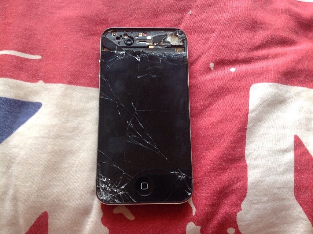 Iphone 4 spares or repairin Poole, DorsetGumtree - Iphone 4 still useable but badly damaged offered as spare or repair .... was on three network comes with lead but no plug and two cases to put it in any questions feel free to ask collection from Parkstone