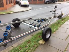 6m snipe roller coaster trailer new axle max load 1500kg, Hubs, wheels and tyres. Good Condition