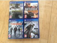 Four PS4 games for sale