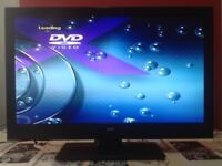 Bush 24 Inch Full HD Altra slim LED TV with Built in DVD player, Freeview, USB, excellent condition