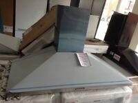 100cm stainless steel chimney hood. RRP £229 12 month Gtee