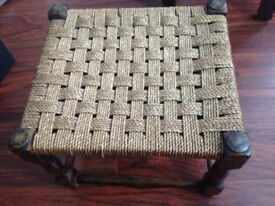 Foot stall with wicker top - REDUCED