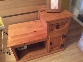Antique pine side table ono £20.00