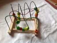 Wooden bead frame for baby and toddler IKEA excellent condition